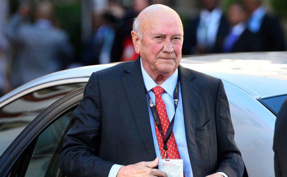 Former S.A President FW de Klerk announces he has cancer