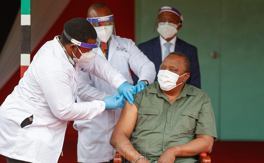 President Kenyatta receives COVID-19 vaccine