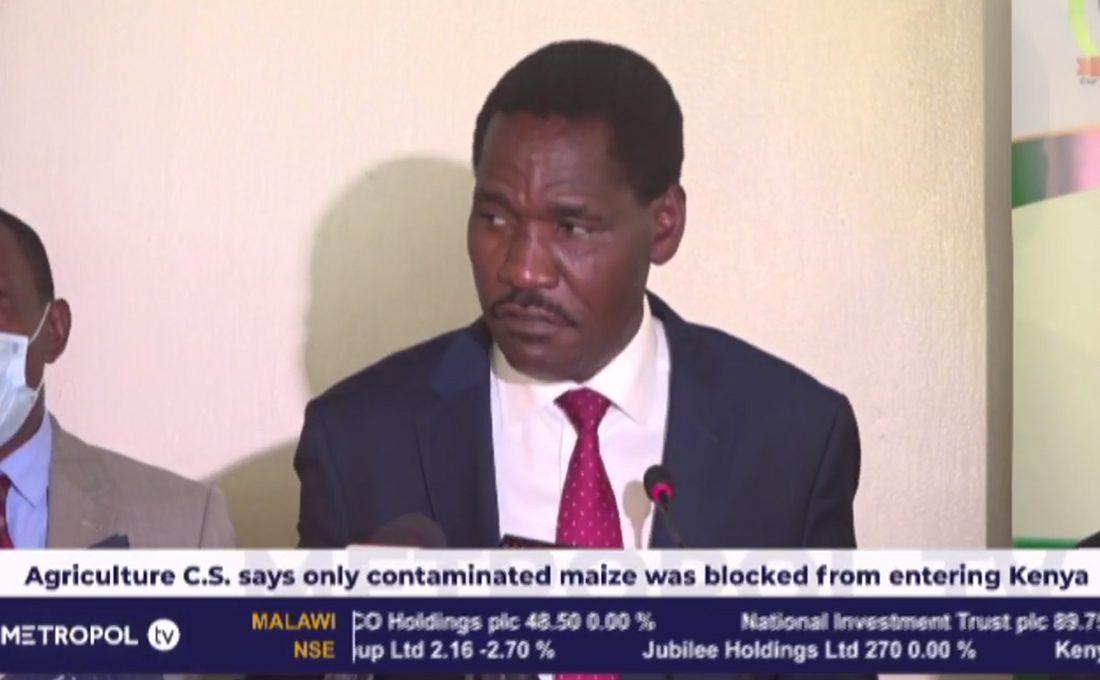 We haven't stopped maize importation from Uganda, Tanzania; says CS Munya