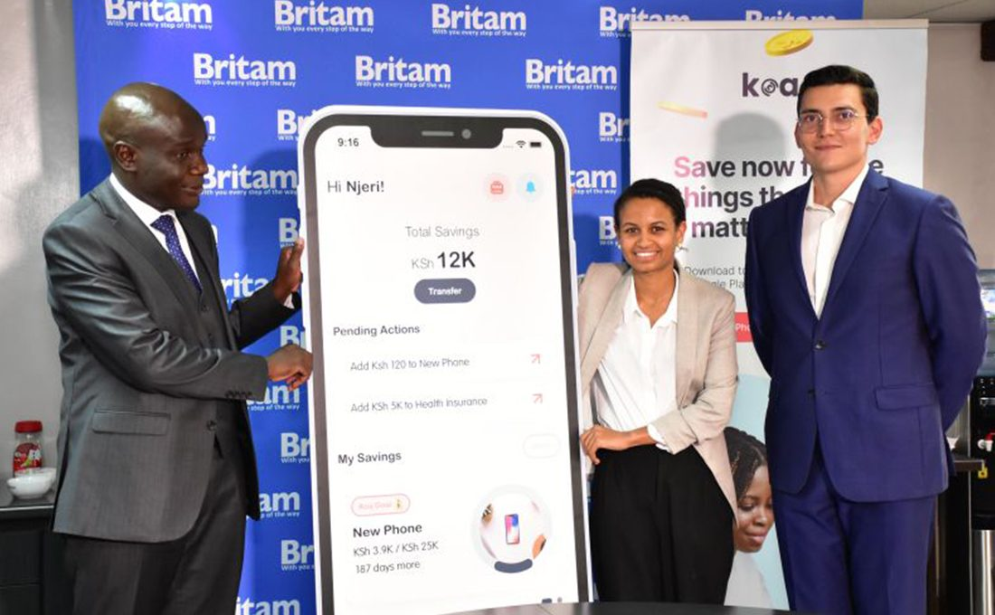 Britam inks deal with Koa to aid savings, investments for as little as Ksh.100