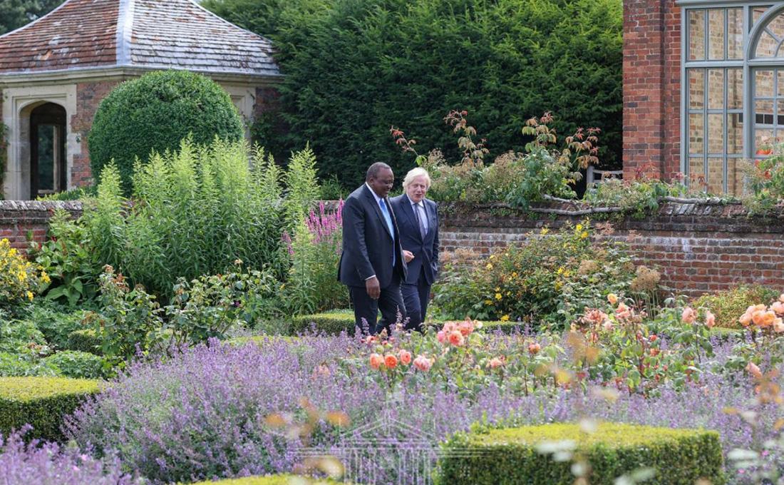 Deepening Kenya-UK ties top agenda as Kenyatta, Johnson meet