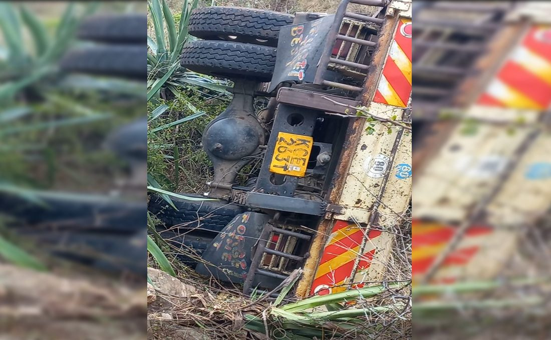 Lorry kills two after ramming into a ditch in Machakos