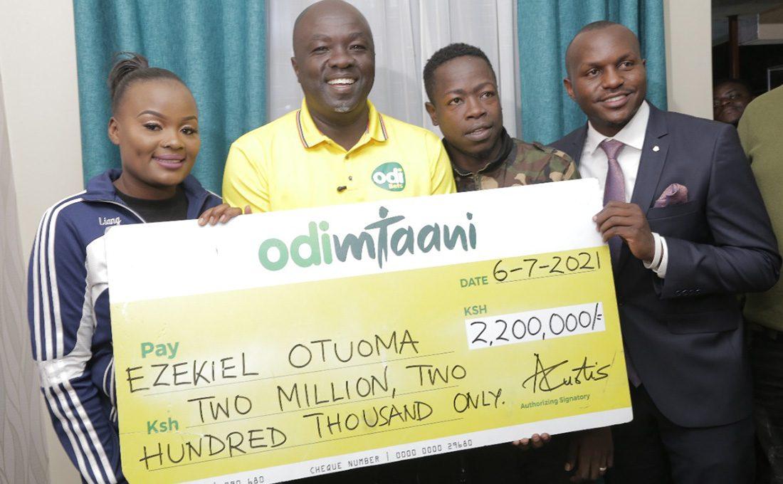 Odibets comes to the rescue of footballer Ezekiel Otuoma