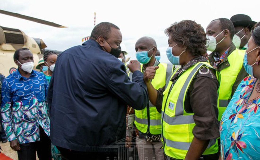 President Kenyatta in Ukambani region for a scaled-down development tour