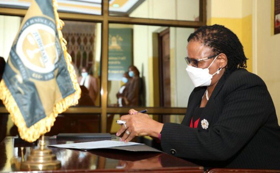 CJ Martha Koome swears in two Small Claims Court Adjudicators