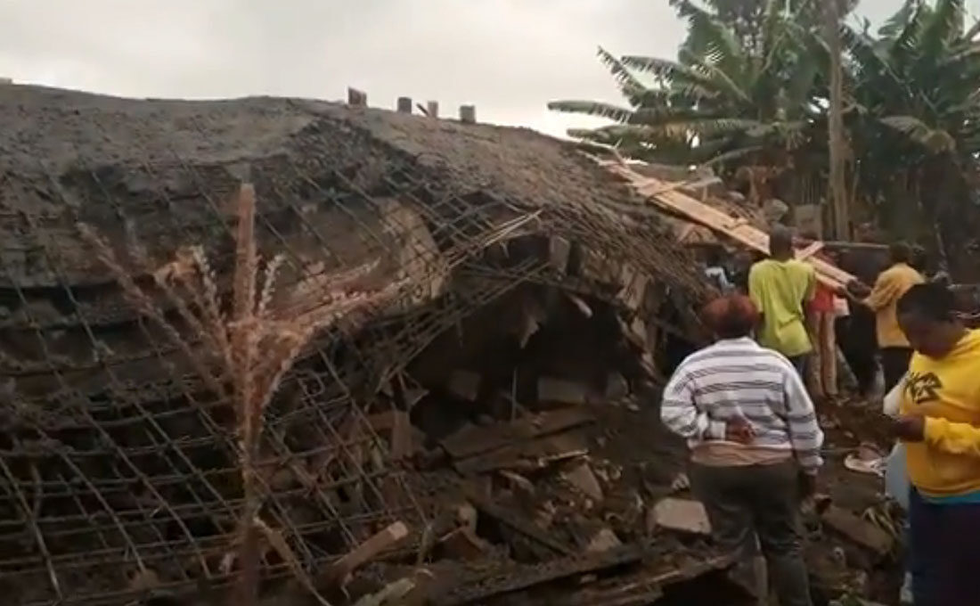 Several people fear trapped after building caves in Gachie [Video]