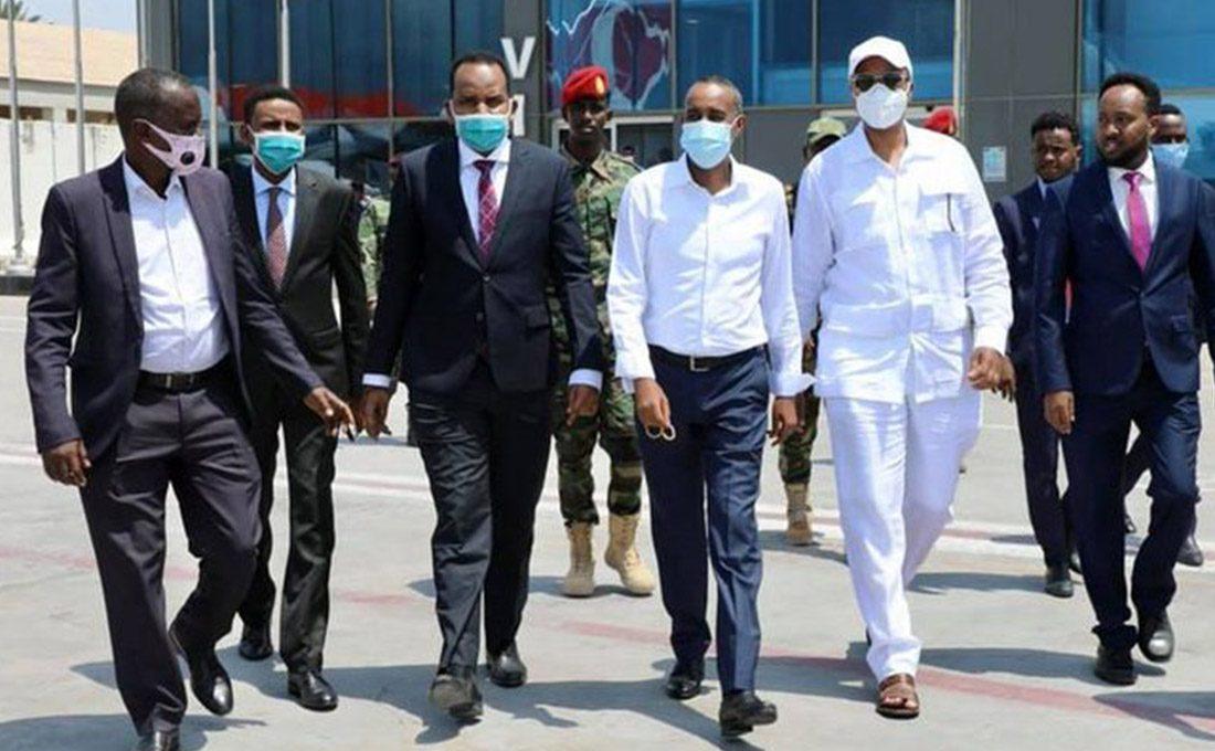 Somali premier Hussein Roble arrives in Kenya