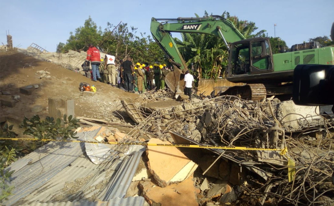 Seven injured after building collapses in Kisumu