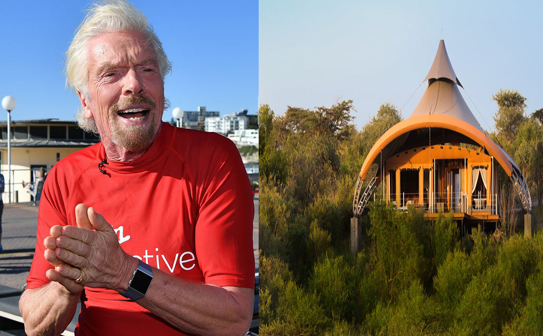 Richard Branson's Mahali Mzuri hotel in Kenya named best worldwide