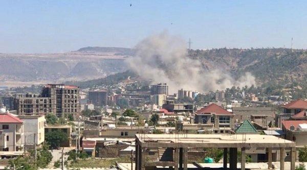 Capital of Ethiopia's Tigray, hit by air strikes